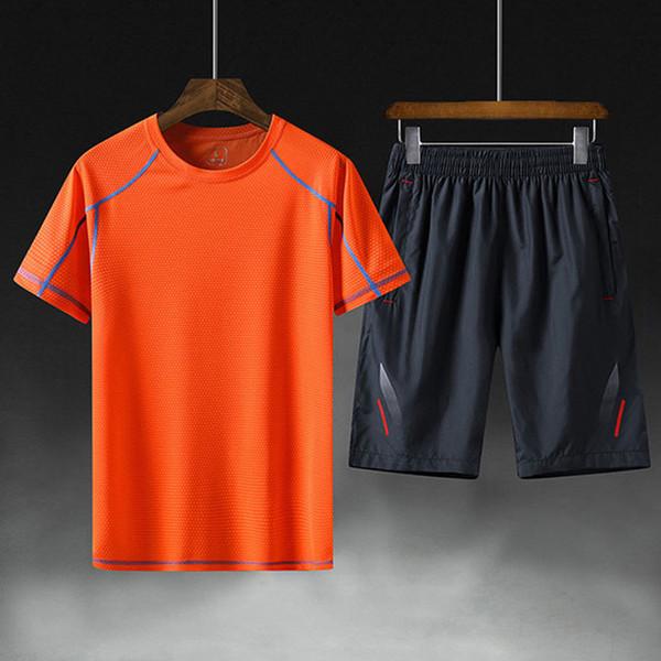 männer designer trainingsanzug sportbekleidung neue designer anzug trend kurzarm shorts lose wilde mode graffiti druck max 5XL Asiatische größe