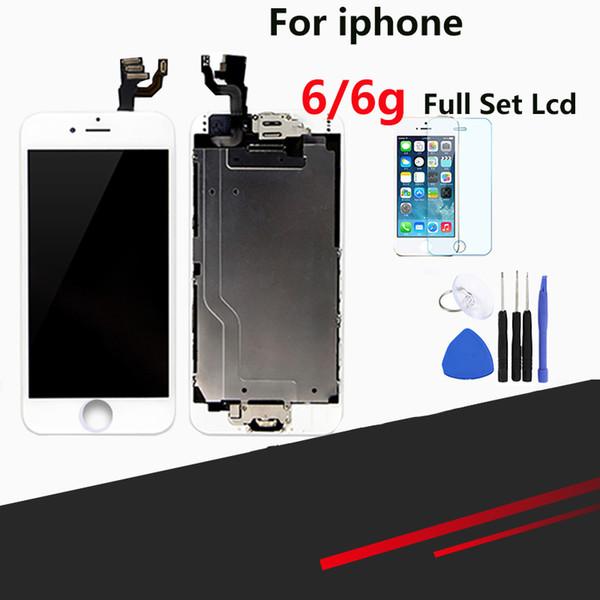 Üstün Kaliteli LCD iPhone 6 Için Tam LCD Ekran Değiştirme Ekran Meclisi ile Ev Düğmesi ve Kamera