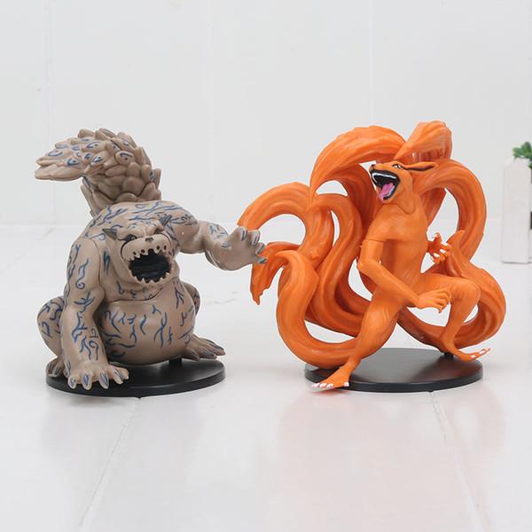 gift collection 2pcs/set Anime Naruto Uzumaki Fox Shukaku Gaara Kurama PVC Action Figure Collection Model Doll Toy Gifts