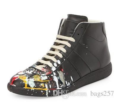 Mulheres homens sapatos casuais novos sapatos de couro genuíno alto Mens sapatos casuais dos homens mais alta versão