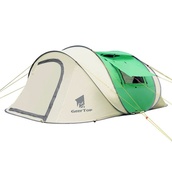los angeles 43451 66569 Geertop 3 4 5 Person Automatic Pop Up Tent Instant UV Protection Sun  Shelter Beach Man Tent With Sky Window For Family Outdoor Shelter For Women  And ...