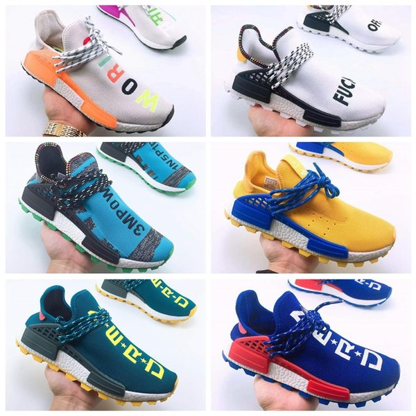 hot sale online 1f0a2 d060e 2019 Wholesale Cheap 2018 New Hu Trail Clouds Mood Best Quality Real Men  Women Pharrell Williams Human Race NMD Running Shoes Sneakers From ...