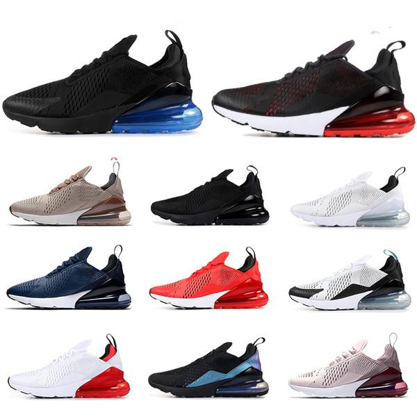 nike air max 270 Sıcak satış erkekler kadınlar koşu ayakkabı ATMA GELECEK bred Kaplan KAKTÜS ıŞıK KEMIK üçlü siyah beyaz nefes erkek eğitmenler spor sneakers