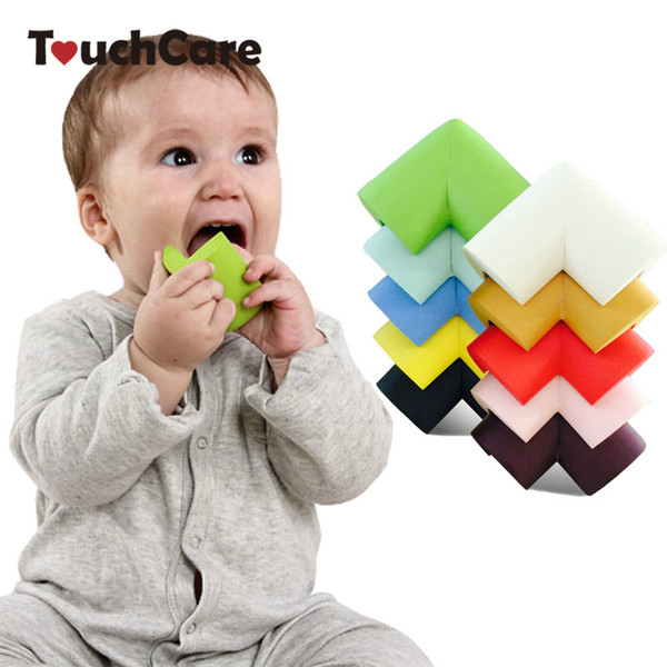 Safety Edge Guards 8Pcs/lot 60*60*12mm Soft Baby Safe Corner Protector Baby Kids Table Desk Corner Guard Children Safety Edge Guards