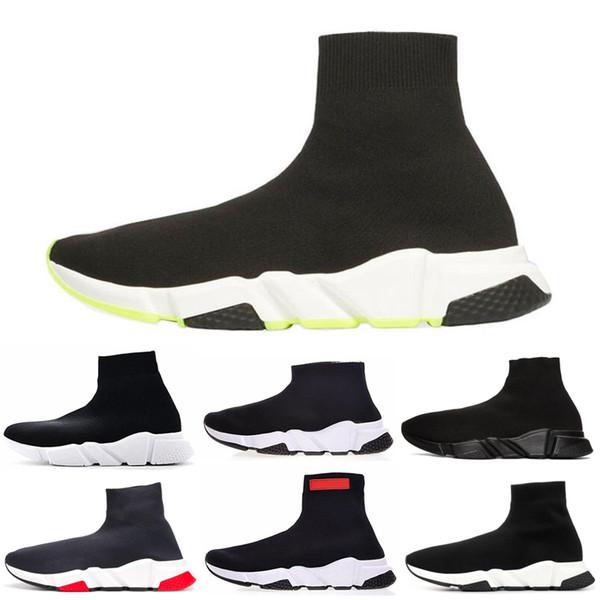 Balenciaga скорость носок Повседневная обувь все черный белый красный синий кроссовки скорость гонки бегуны мужские дизайнерские кроссовки теннис бесплатная доставка