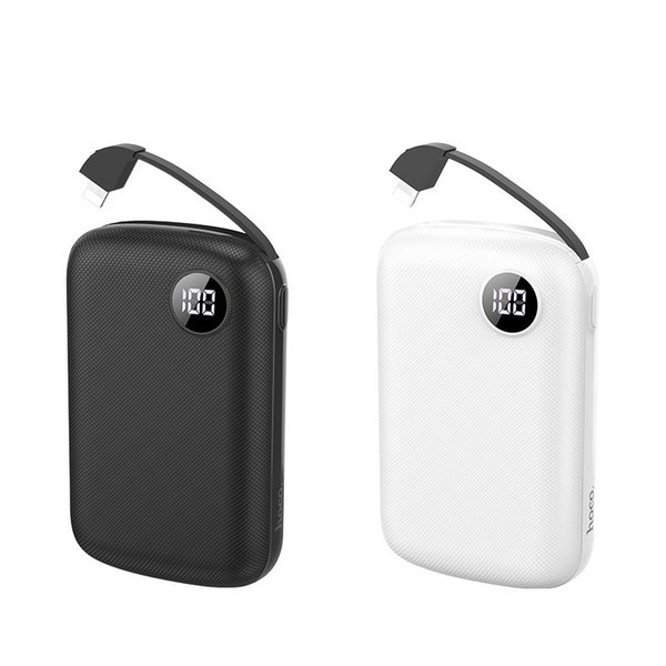 10000mah Mini Power Bank Dual USB Powerbank tragbare Telefon-Ladegeräte Externe Batterie USB-Ladegerät Banken mit LED-Licht