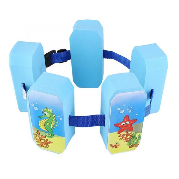 Float Circle Cute Cartoon Floating Board Natación Kickboard Niño Cinturón ajustable Swim Training Ayuda Azul flotante