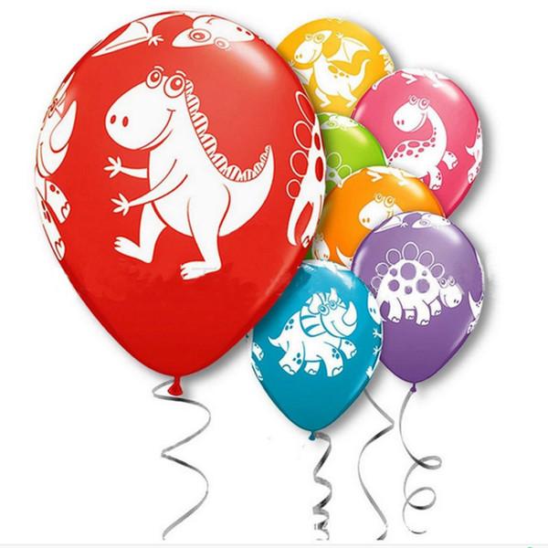 12 pouces Dino Anniversaire Ballons Dinosaure Jungle Animaux Sauvages Fête Latex Ballons Enfants Fête D'anniversaire Décoration Ballons