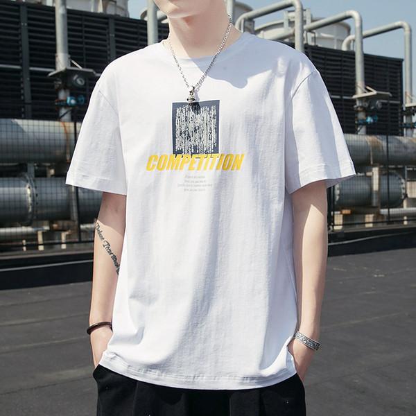 T-shirt a vento a maniche corte Hong Kong Abiti da uomo a cinque maniche larghi in estate