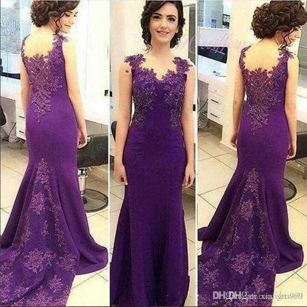 Setwell Perles Mère de la robe de mariée grande taille Robe de sirène Tenue de soirée balayage train Applique robe de mariée clients