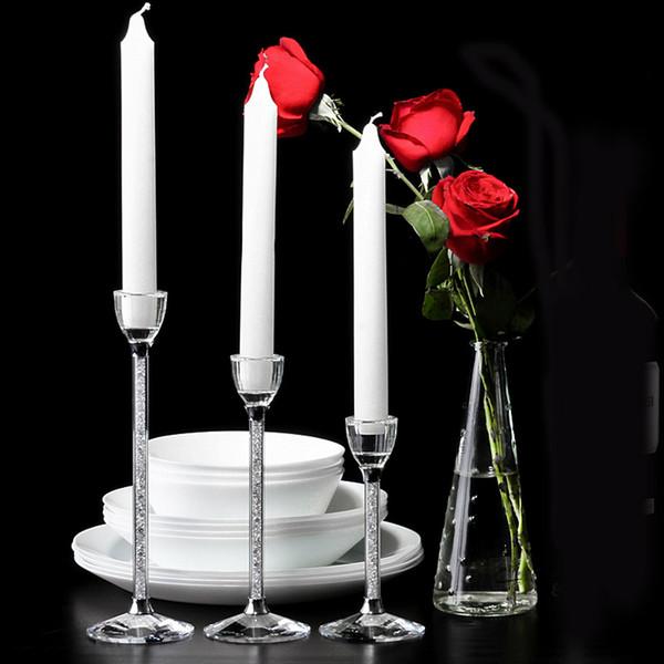 Fiesta creativa de la boda Sostenedores de la vela Centros de boda personalizados Cristal Cristal candelabro Sala de estar Decoración del hogar