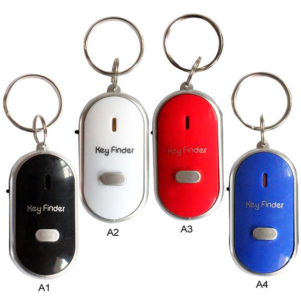 5pcs/Set LED Torch Light Remote Sound Control Lost Key Car Engine Finder Locator Keychain Alarm Locator Track Phone Wallet Key