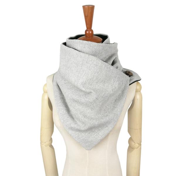 Couverture designer fashion winter warm men Button scarf wool cotton unisex Herringbone chevron ring scarf women Infinity