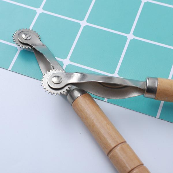Из Нержавеющей Стали Кожаный Ткань Бумага Overstitch Колеса Рулетки Прокладка Шитья Кожи Craft Инструмент
