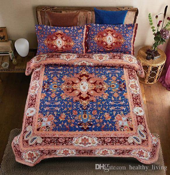 3D Yatak Takımları Kraliçe Bohemian Mandala Yatak Yorgan Nevresim Set Sac Yastık Kapak 4 adet Yatak Set En Kaliteli Yılbaşı Hediyeleri