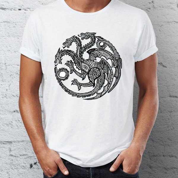 Men's T Shirt Featuring Game Of Thrones Major House Sigils Stark Baratheon Lannister Targaryen Martel