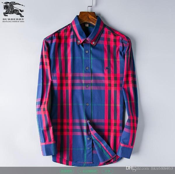 Herrenmode Hemden Lange Ärmel Einfarbig Freizeithemd 2019 Winter Neue Bluse Schlanker Stehkragen Teenager's Over Shirt 56320