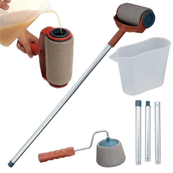 6PCS Paint Roller Brush набор инструментов DIY Paint Roller Wall Кисть ручки стекались обрезного номер Живопись
