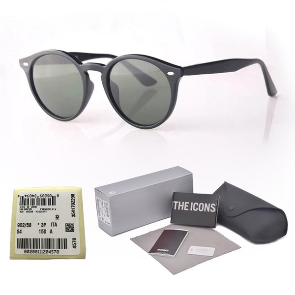 8 Colors High Quality Brand Designer Metal hinge sunglasses for men women plank frame Mirror glass lenses with free Retail cases and label