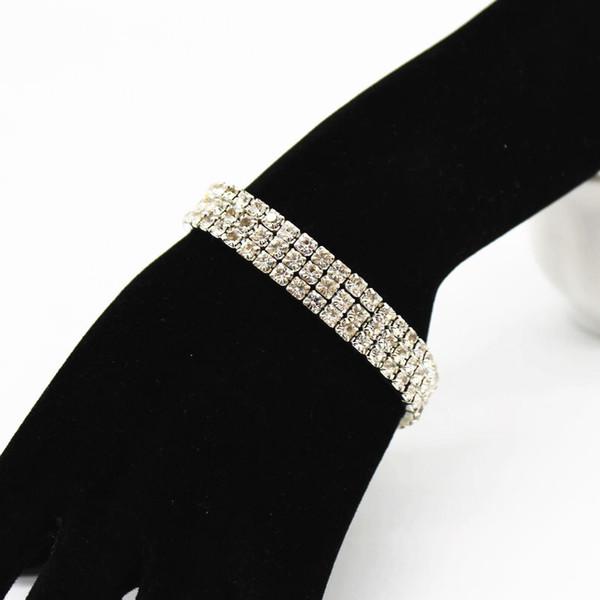 Europäische und Amerikanische Explosion Kreative Flash Diamant mit Diamant Elastische Kristall Armband Weibliche Mode Fahrt Persönlichkeit Armband