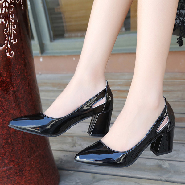 Summer high heels women shoes women pu Leather Pointed Toe Slip-On Pumps Party Wedding high heels shoes women sandals mujer