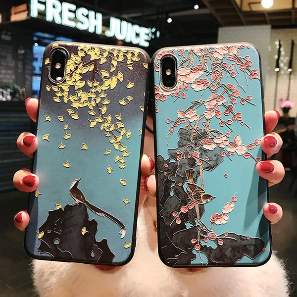 2019 new Soft TPU phone case for iPhoneXS max Classical pattern phone cases for iphone 6 7 8 plus cover case anti fall lower price