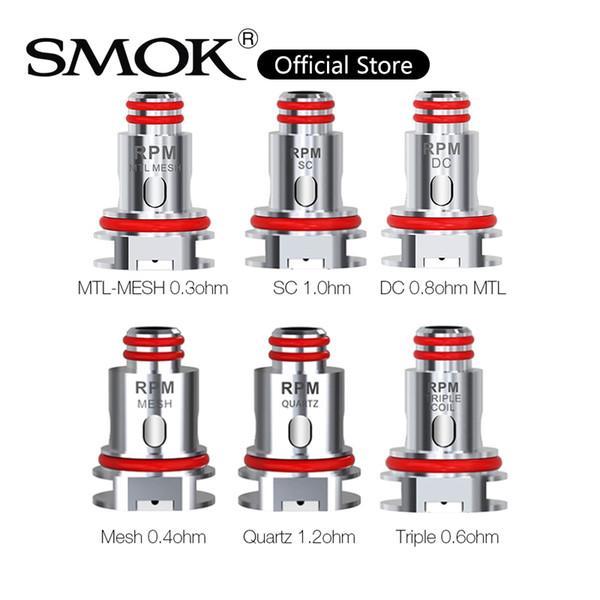 best selling SMOK RPM40 Coil 0.4ohm RPM Mesh 0.6ohm RPM Triple DC Coils 1.2ohm Quartz 1.0ohm SC Replacement RPM Coils For RPM40 Kit 100% Original