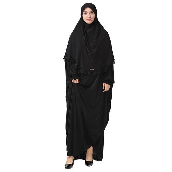 Ramadan Mulheres Oração Batwing Manga Abaya Vestido Muçulmano Islâmico Árabe Robe Roupas vestidos de fiesta de noche # 40