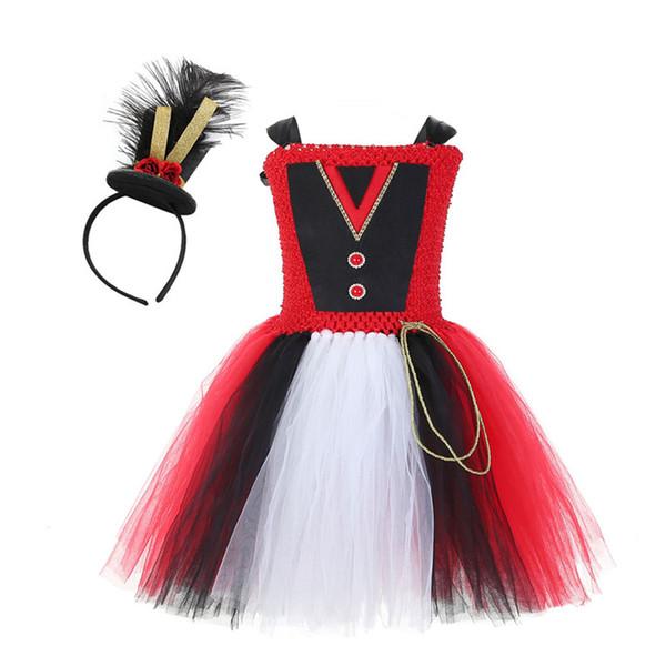 holloween costumes baby girl tutu dress animal trainer clothing children wild lion lion cosplay dresses red english bowler kids