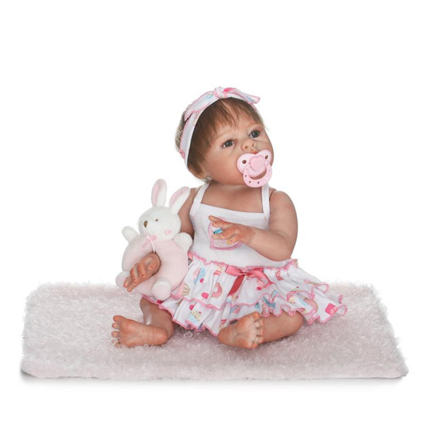 Bebe Reborn new simulation full vinyl girl doll very soft real gentle touch doll sweet gift for kids