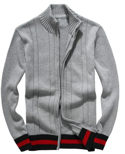xinglong198 / 2019 novos homens de lazer blusas de luxo camisola bordada blusas de alta qualidade manga comprida Pullover camisola de tricô camisa de cor sólida