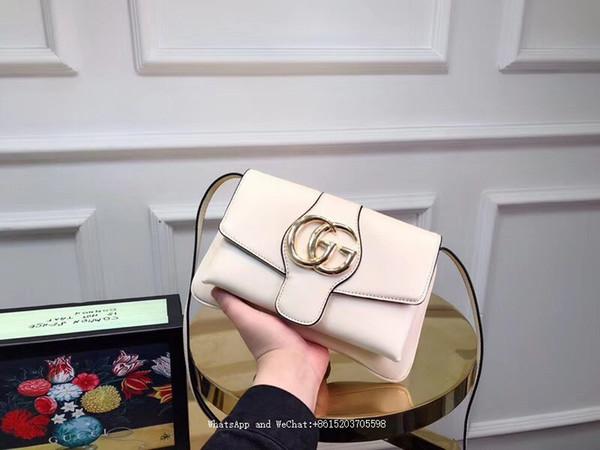 2019 marque dans l'épaule inclinée unique vendant des sacs à main en cuir véritable sac de messager de mode populaire