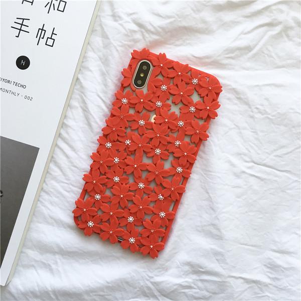 Cas de téléphone de concepteur pour Iphone XR cas de modèles de mode mince couverture de fleur pour Iphone X XS XS MAX 8 7 6 plus cas unique creux Design