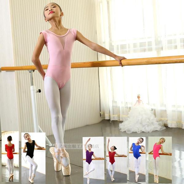 Sans manches Point Ballet Justaucorps Gymnastique Justaucorps Adultes Fille Costume De Danse Ballerine Enfants Body Unitard Dancewear