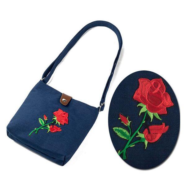 Popular Ladies Girls Mini Flap Crossbody Messenger Bags Women Vintage Flower Rose Embroidery Shoulder Bag Handbag Fa$3