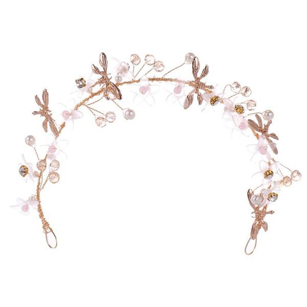 Faixa de cabelo Floral de Cristal Handmade Flor Meninas de Luxo Mulheres Jóias Cabelo Headband Do Partido Presentes Decoração Elegante Tiara W15