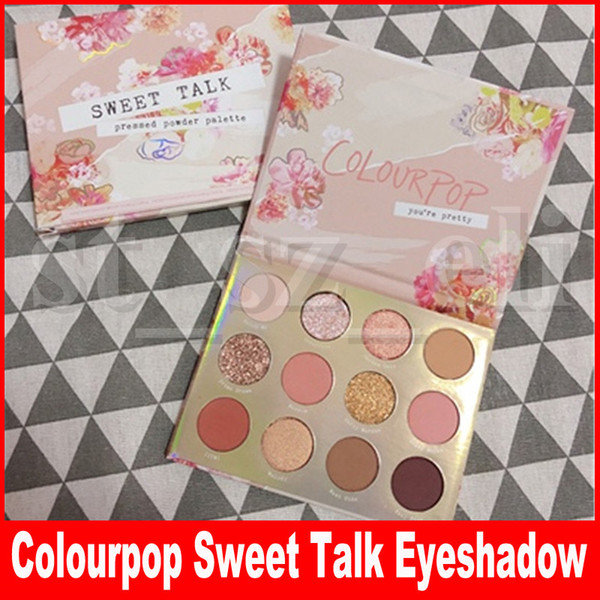 Face makeup eye colourpop weet talk 12 color eye hadow palette himmer matte eye hadow pre ed powder
