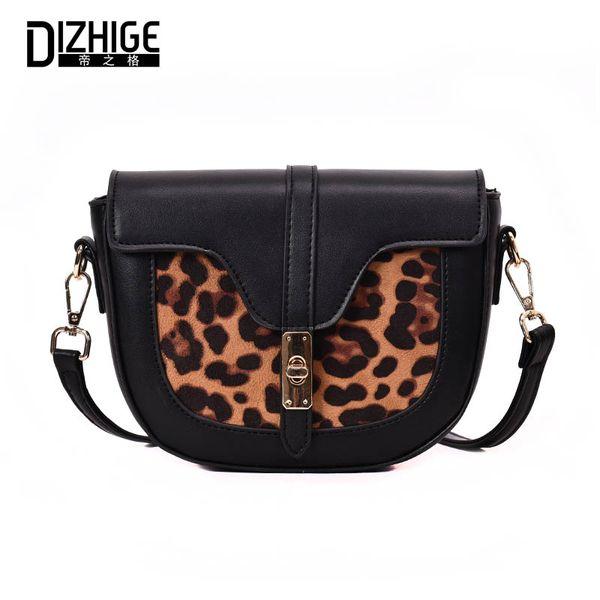 DIZHIGE Leopard Print Messenger Bag donna in pelle PU Crossbody Borse a tracolla Designer per ragazze Borsa donna femminile Borse Lady
