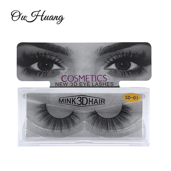 Mink Lashes 3D Mink Eyelashes 100% Cruelty Free Lashes Handmade Long Cross Natural Fake Eyelashes Extension for Women