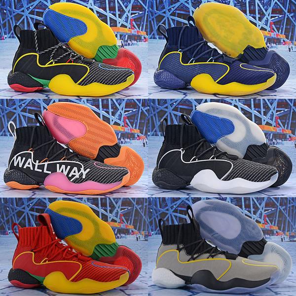 2019 Nuevo Crazy Byw I Calcetines Zapatillas de baloncesto Hombre Gris Pharrell X Ambición PK Diseñador Skateboard Fly Line China Trainer Tenis Zapatillas