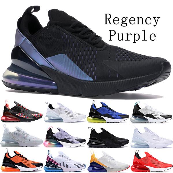 top popular Throwback future Regency Purple Be True 270OG Running Shoes Men Women Triple Black white Warriors CNY Parra womens mens designer shoes 2019