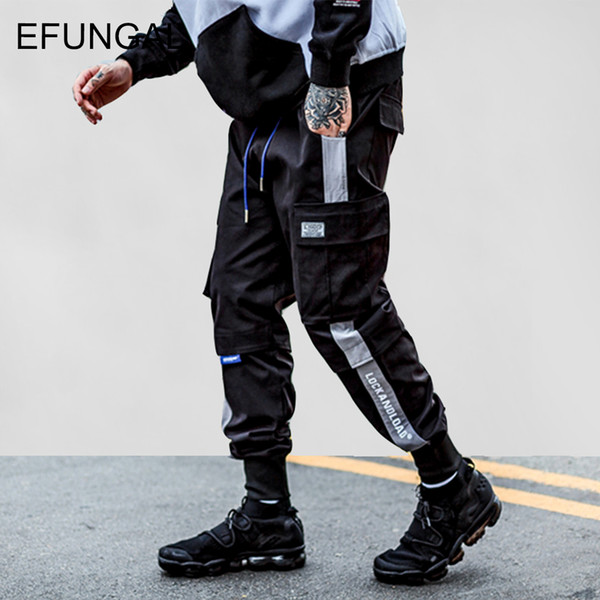 EFUNGAL Cargo Pocket Track брюки мода 2019 гарем бегунов мужчины высокая мода городской уличной хип-хоп Slim Fit брюки FD141