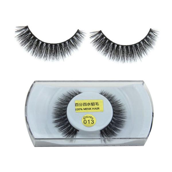 1 paire Femmes Lady 100% réel Mink épais naturel Faux faux doux longs cils Maquillage des yeux Lashes Extension