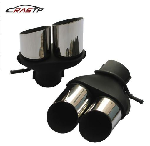 RASTP- New Stainless Steel Rear Exhaust Pipes Tips Ends Muffler Car Exhaust Tail For Land Rover SVR RS-CR8115