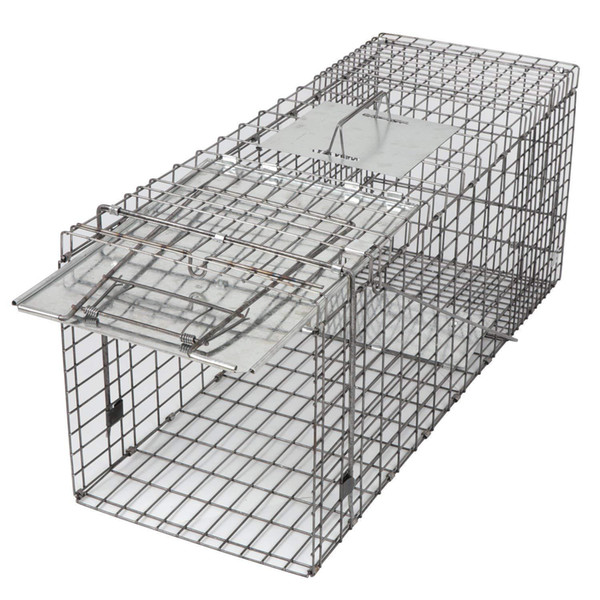 Alive Animal Cage Trap 18in 24in 3in Cage Catch Release Humane Rodent Cage Rabbits Stray Cat Squirrel Raccoon Mole Gopher Chicken Opossum