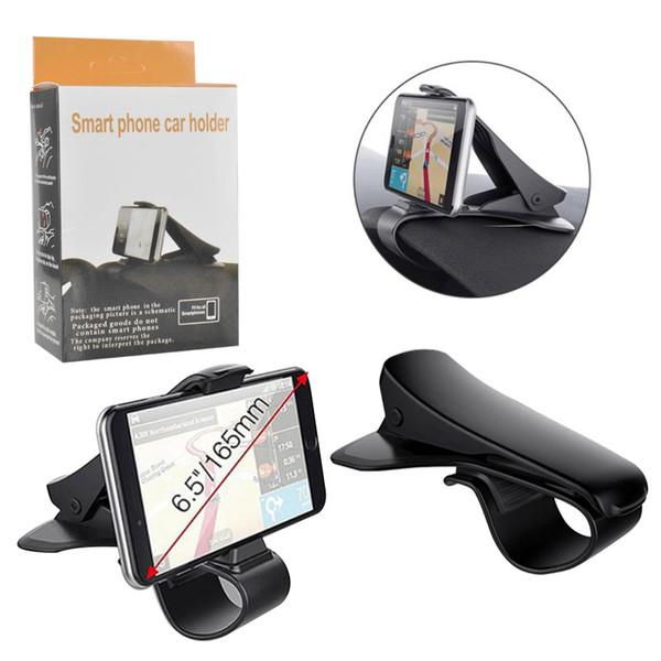 Montagens de carro universal titulares de telefone celular painel ajustável hud simulando design de stands de carro para iphone samsung huawei com pacotes de varejo