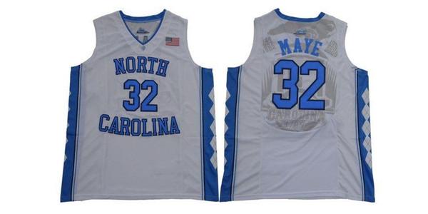 Cheap custom New North Carolina's Tar Heel Luke Maye #32 White College Jersey Stitched Customize any number name MEN WOMEN YOUTH XS-XXL