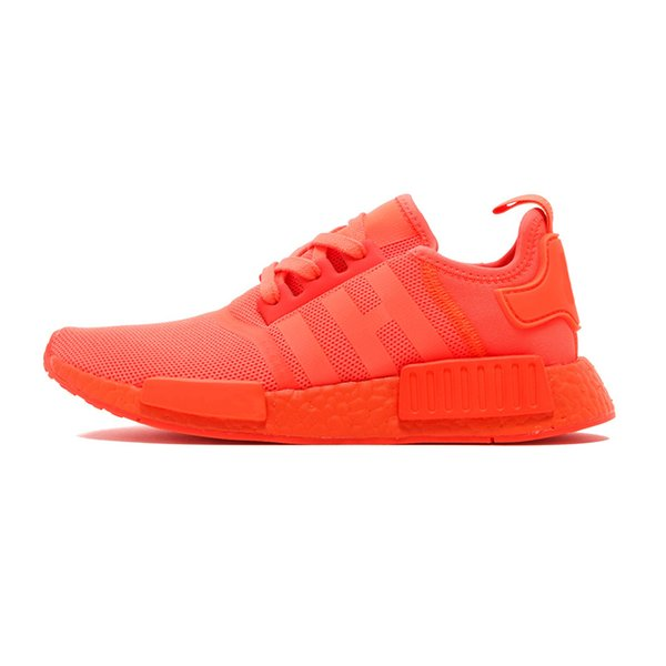 2019 NMD R1 Primeknit Japan Triple Black white red OG pink men women Outdoor Shoes runner breathable sports shoe trainer fashion sneakers 12