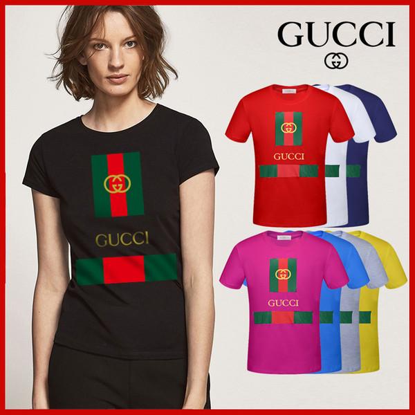 Printemps / été 2019 nouvelle haute qualité T-shirt à manches courtes femmes, col rond coton dames T-shirt robe lettre impression t livraison gratuite