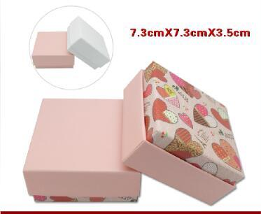 Pink high-grade Necklace Earrings Ring Silver Bracelet box custom-made silver packaging WL668